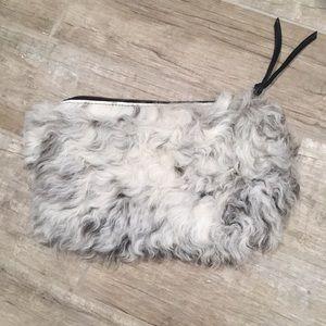 Primecut Bags Portland sheep fur clutch